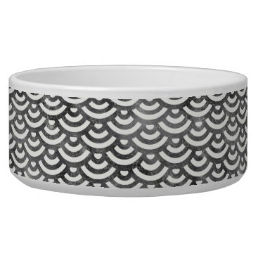 Beach Themed Black and White Mermaid Pastel Pattern Bowl