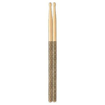 Beach Themed Black and White Mermaid Pastel Pattern Drum Sticks