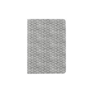 Beach Themed Black and White Mermaid Pastel Pattern Passport Holder