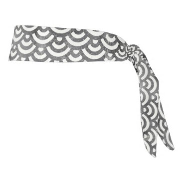 Beach Themed Black and White Mermaid Pastel Pattern Tie Headband