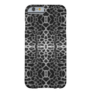 Black and white mesh pattern barely there iPhone 6 case