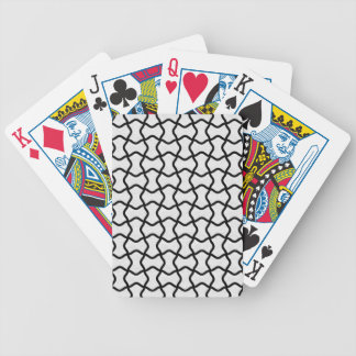 Black and white mesh pattern deck of cards