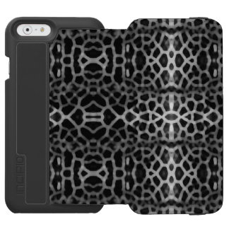 Black and white mesh pattern iPhone 6/6s wallet case