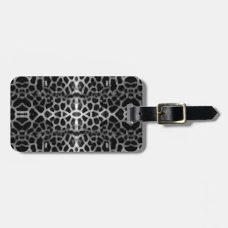 Black and white mesh pattern luggage tag