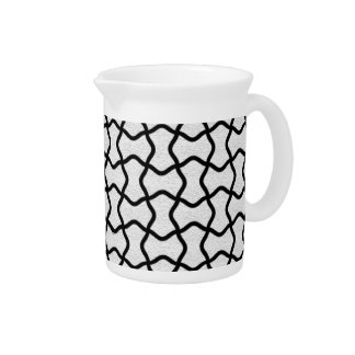 Black and white mesh pattern pitcher
