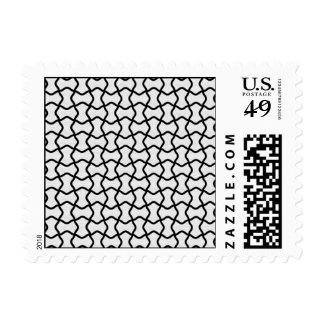 Black and white mesh pattern postage stamps