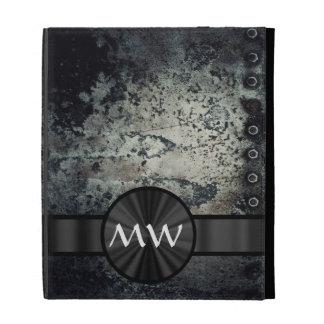 Black and white metallic rust iPad folio cases