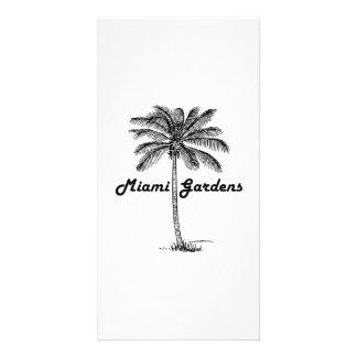 Black and White Miami Gardens & Palm design Card