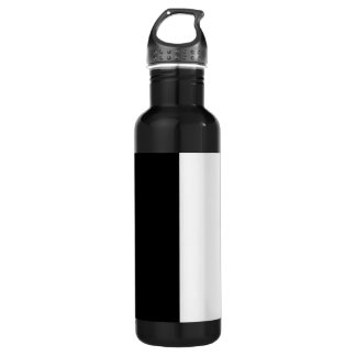 Black And White Middle Customize This Water Bottle