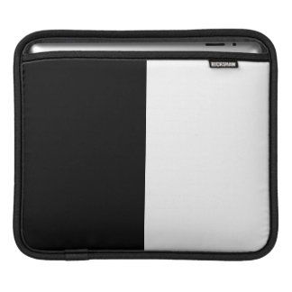 Black And White Middle Half And Half iPad Sleeve