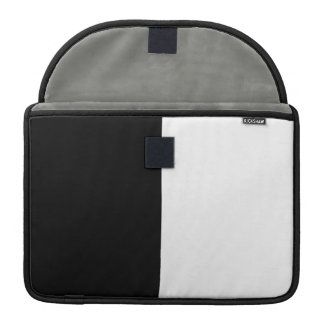 Black And White Middle Half And Half Sleeve For MacBook Pro