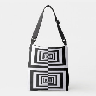 Black And White Minimalistic Modern Geometric Crossbody Bag