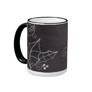 black and white misotoe ringer mug