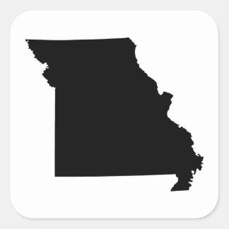 Black and White Missouri Square Sticker