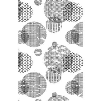 Black and White Mod Dots Distressed Pop Art Wall Calendar