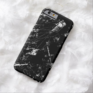 Black and White Modern Abstract Scratch Texture Barely There iPhone 6 Case