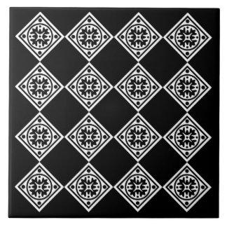 Black And White Modern Art Deco Diamonds Trivet Tile