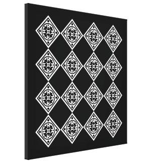 Black And White Modern Art Deco Diamonds Wall Art