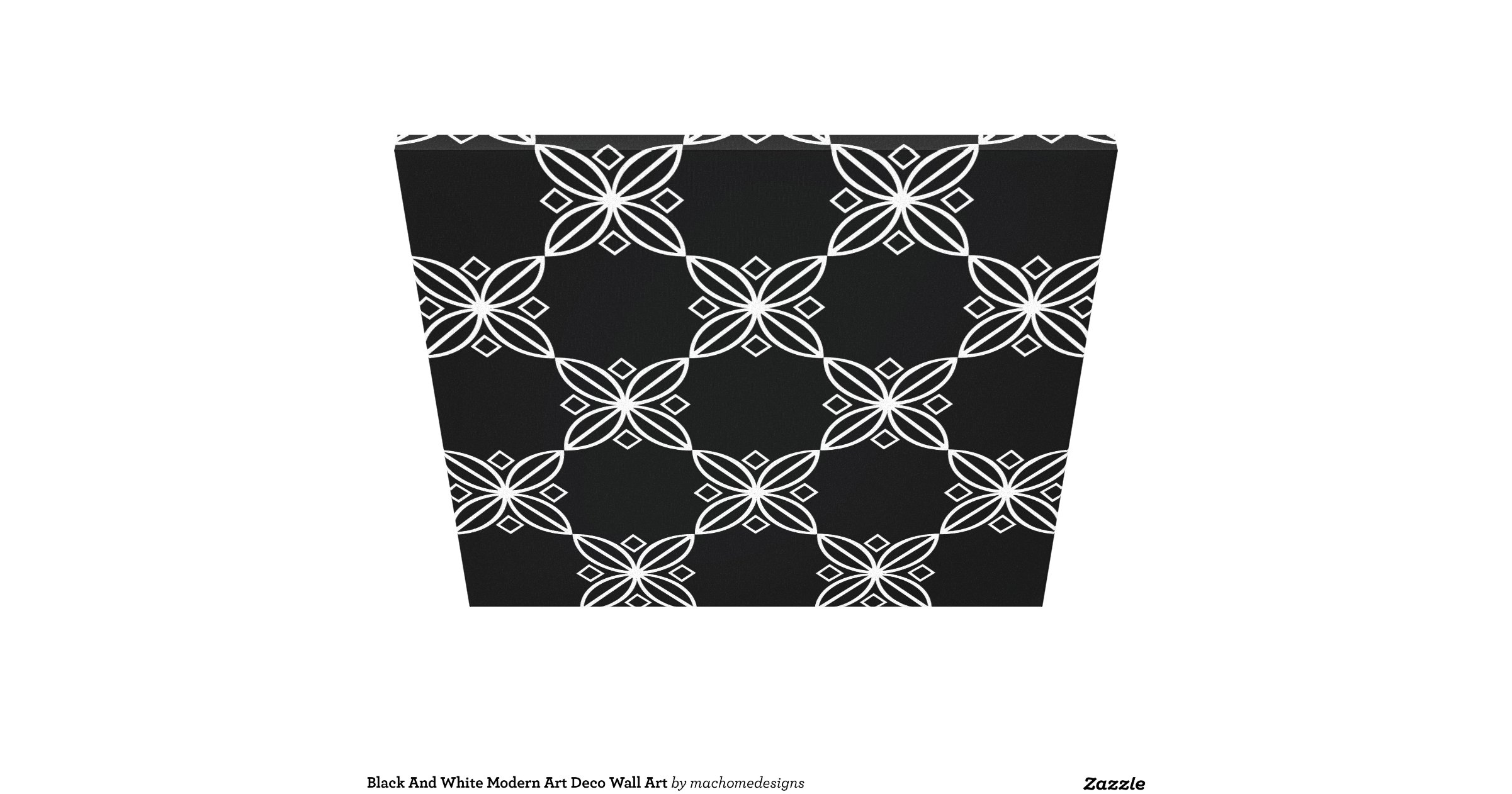 black and white modern art deco wall art canvas print zazzle. Black Bedroom Furniture Sets. Home Design Ideas