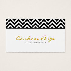 Black And White Modern Chevron Stripes Business Card at Zazzle