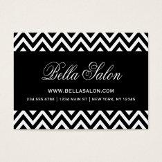 Black And White Modern Chevron Stripes Business Card at Zazzle
