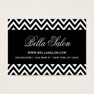 Black and White Modern Chevron Stripes Business Card