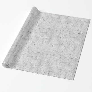 Black and White Modern Concrete Pattern Wrapping Paper