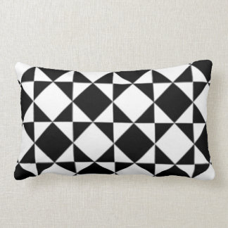 Black and White Modern Diamond Pattern Throw Pillows