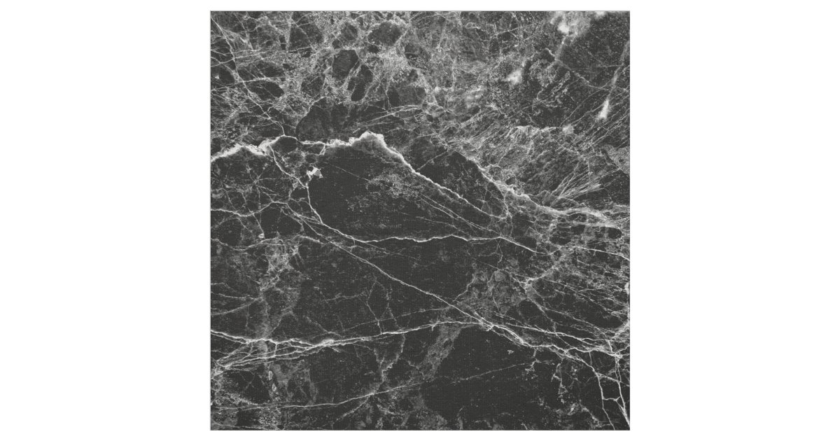 Black And White Modern Faux Marble Pattern Fabric Zazzle Com