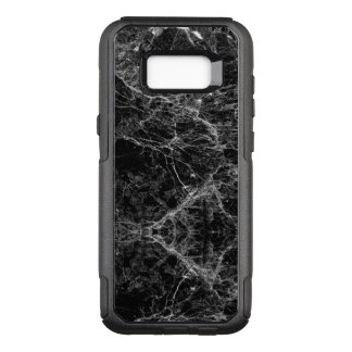 Black and White Modern Faux Marble Pattern OtterBox Commuter Samsung Galaxy S8  Case
