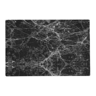 Black and White Modern Faux Marble Pattern Placemat