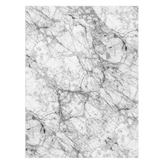 Black and White Modern Faux Marble Pattern Tablecloth
