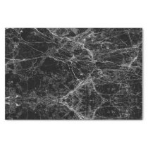 Black and White Modern Faux Marble Pattern Tissue Paper