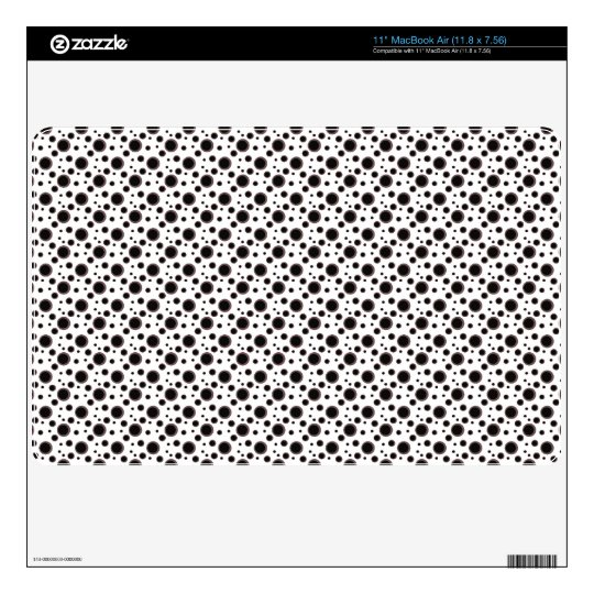 Black and White Modern Polka Dots Pattern Decal For MacBook