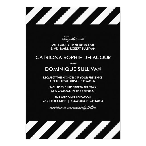 Black And White Striped Wedding Invitations is one of our best ideas you might choose for invitation design