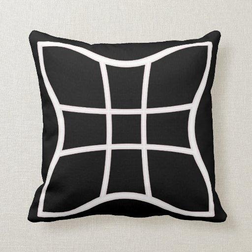 Black and White Modern Throw Pillow Zazzle