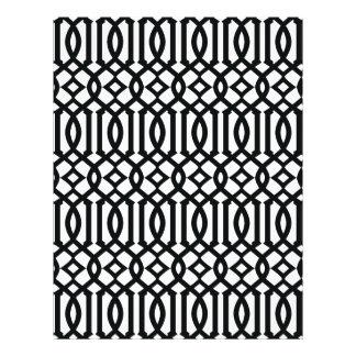 Black and White Modern Trellis Pattern Flyer