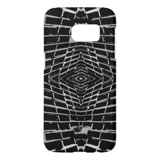 Black and White Modern Trendy Abstract Pattern Samsung Galaxy S7 Case