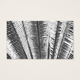 Black and White Modern Tropical Palm Fronds Business Card