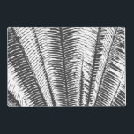 """Black and White Modern Tropical Palm Fronds Placemat<br><div class=""""desc"""">This modern and cool black and white tropical palm fronds is perfect for the trendy and stylish individual. It&#39;s simple and contemporary print is great for many gifts and occasions. Just enjoy this elegant and exotic print for your next purchase.</div>"""