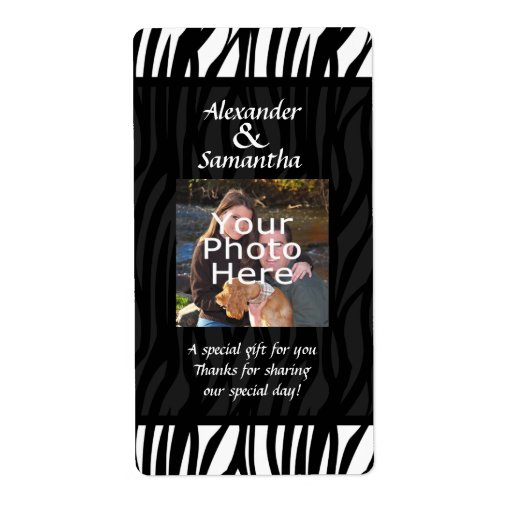 Black and White Modern Wedding Gift or Favor Label
