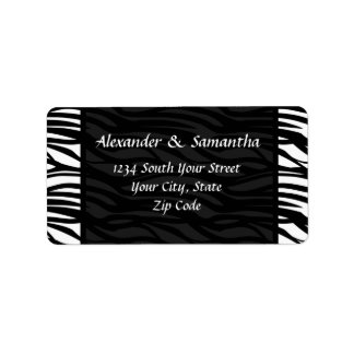Black and White Modern Zebra Address Labels
