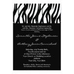 Black and White Modernist Stripe 5x7 Paper Invitation Card