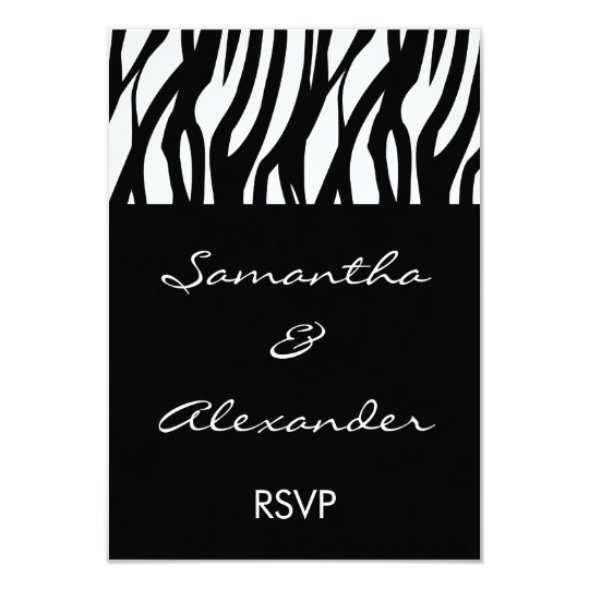Black and White Modernist Stripe Card