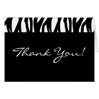 Black and White Modernist Stripe Greeting Cards