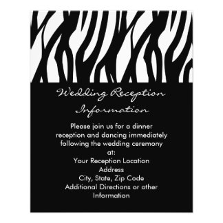 Black and White Modernist Stripe Personalized Flyer