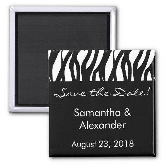 Black and White Modernist Stripe Magnet