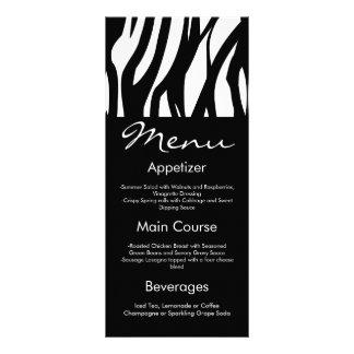 Black and White Modernist Stripe Customized Rack Card