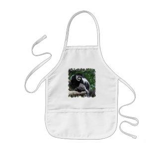 Black and White Monkey Small Apron
