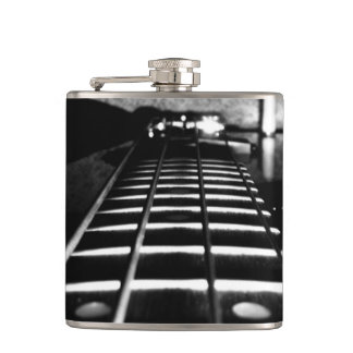 Black and White Monogram Bass Guitar Flask